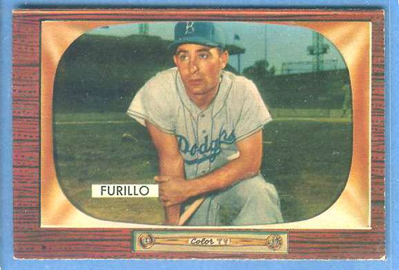 1955 Bowman #169 Carl Furillo [#c] (Brooklyn Dodgers) Baseball cards value