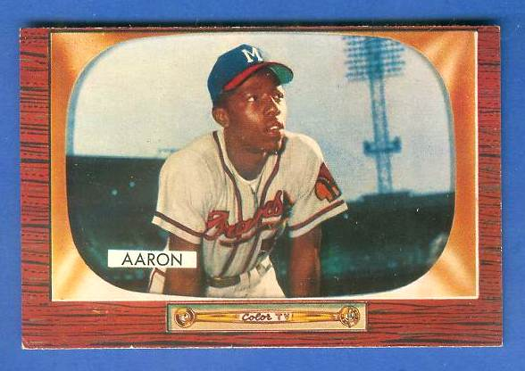 1955 Bowman #179 Hank Aaron [#a] (Braves) Baseball cards value