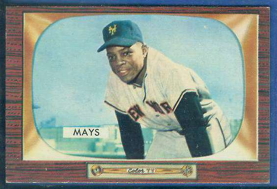 1955 Bowman #184 Willie Mays [#a] (New York Giants) Baseball cards value