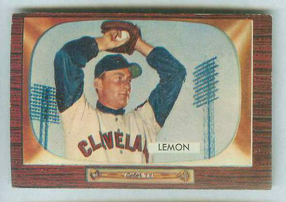 1955 Bowman #191 Bob Lemon [#a] (Indians) Baseball cards value