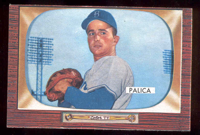 1955 Bowman #195 Erv Palica ( Without Trade VARIATION) (Brooklyn Dodgers) Baseball cards value