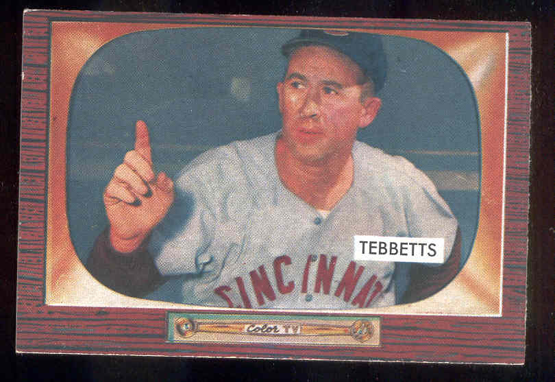 1955 Bowman #232 Birdie Tebbetts MGR SCARCER HIGH NUMBER (Reds) Baseball cards value