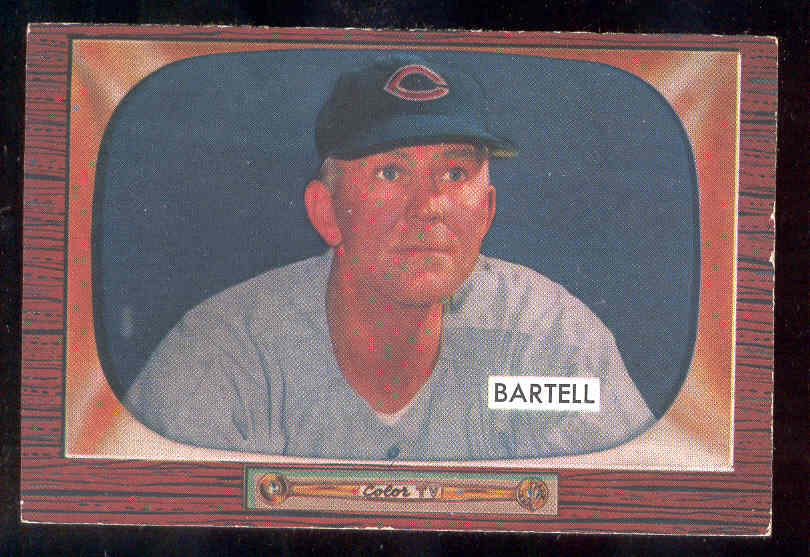 1955 Bowman #234 Dick Bartell COACH SCARCER HIGH NUMBER (Reds) Baseball cards value