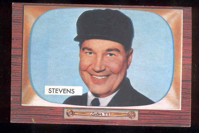 1955 Bowman #258 John W. Stevens UMPIRE SCARCER HIGH NUMBER Baseball cards value