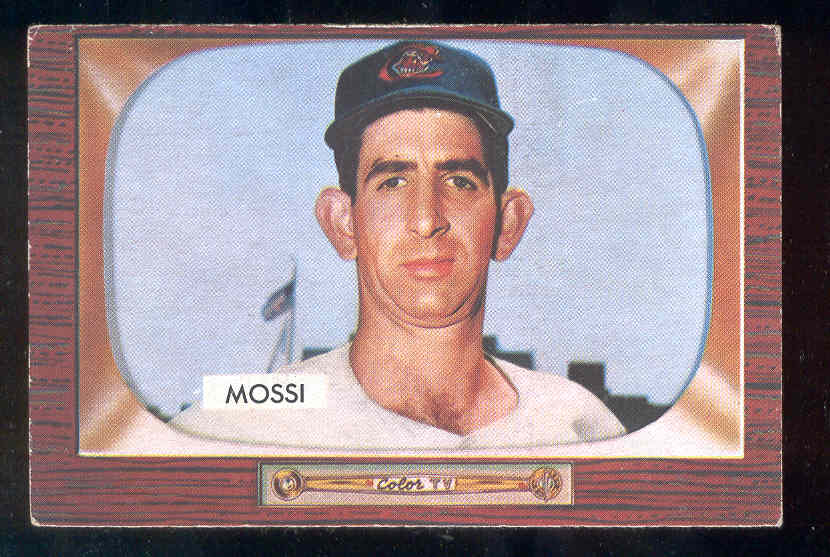 1955 Bowman #259 Don Mossi ROOKIE SCARCER HIGH NUMBER (Indians) Baseball cards value