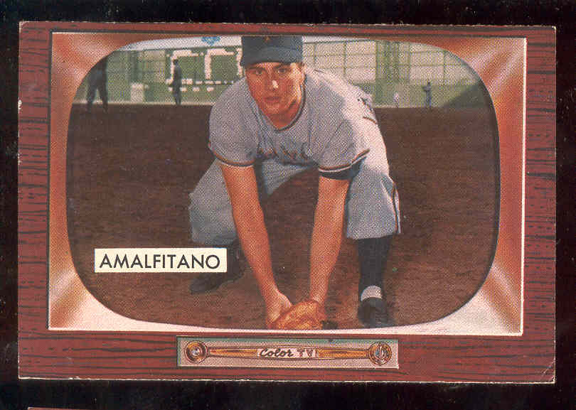 1955 Bowman #269 Joe Amalfitano ROOKIE SCARCER HIGH NUMBER (New York Giants Baseball cards value