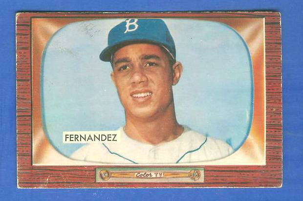 1955 Bowman #270 Chico Fernandez ROOKIE SCARCER HIGH NUMBER [#b] (Dodgers) Baseball cards value