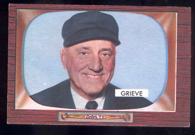 1955 Bowman #275 William T Grieve UMPIRE SCARCER HIGH NUMBER Baseball cards value