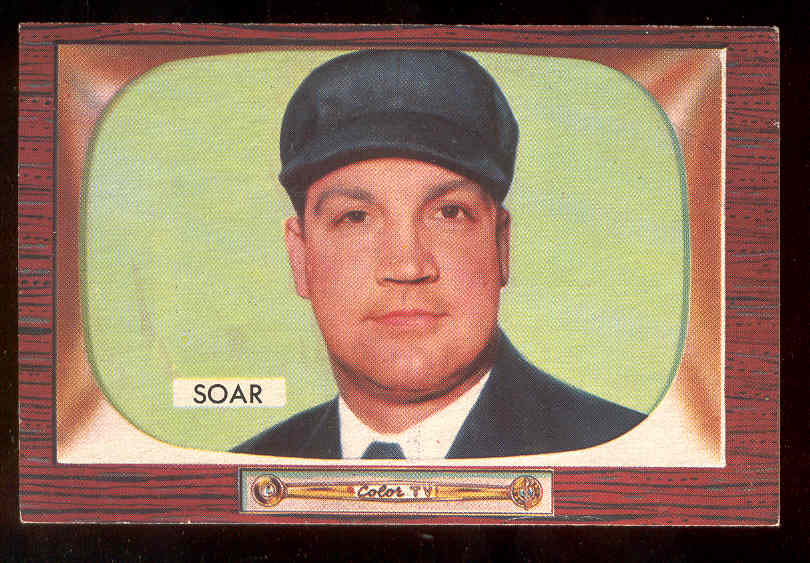 1955 Bowman #279 Hank Soar UMPIRE SCARCER HIGH NUMBER Baseball cards value