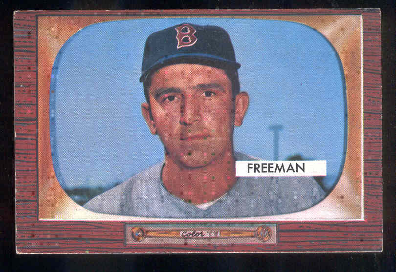 1955 Bowman #290 Hershell Freeman SCARCER HIGH NUMBER ROOKIE (Red Sox) Baseball cards value