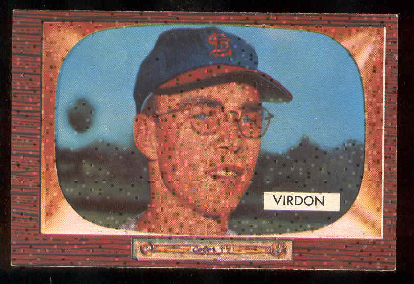 1955 Bowman #296 Bill Virdon ROOKIE SCARCER HIGH NUMBER (Cardinals) Baseball cards value