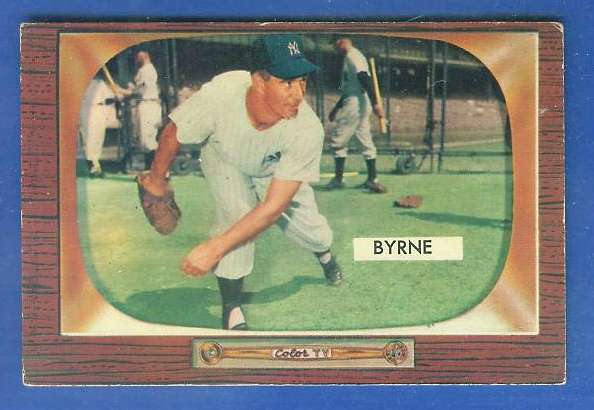 1955 Bowman #300 Tommy Byrne SCARCER HIGH NUMBER (Yankees) Baseball cards value
