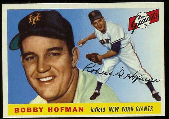 1955 Topps #.17 Bobby Hofman (NY Giants) Baseball cards value