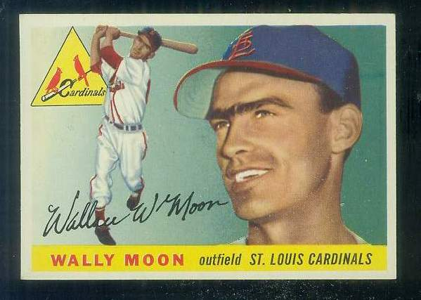 1955 Topps #.67 Wally Moon [#b] (Cardinals,2nd year card) Baseball cards value