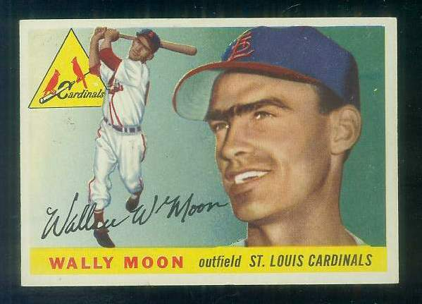 1955 Topps #.67 Wally Moon [#c] (Cardinals,2nd year card) Baseball cards value