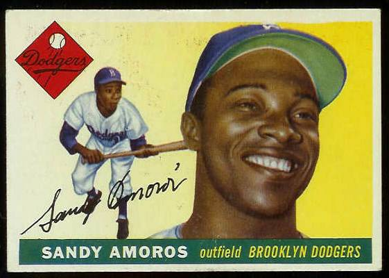 1955 Topps #.75 Sandy Amoros ROOKIE (Brooklyn Dodgers) Baseball cards value