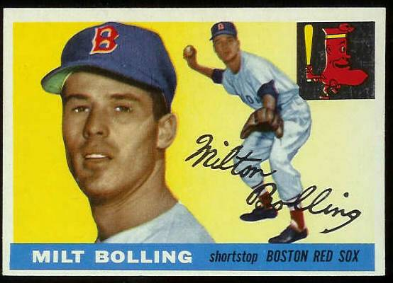 1955 Topps #.91 Milt Bolling (Red Sox) Baseball cards value