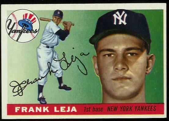 1955 Topps #.99 Frank Leja (Yankees) Baseball cards value