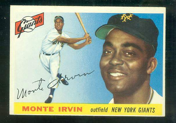 1955 Topps #100 Monte Irvin [#a] (NY Giants) Baseball cards value