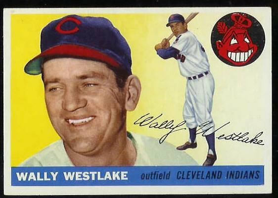 1955 Topps #102 Wally Westlake (Indians) Baseball cards value