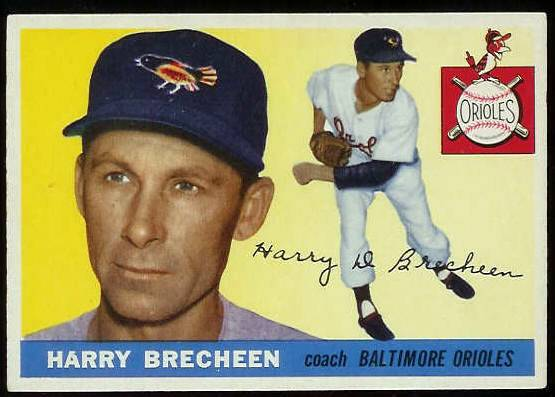 1955 Topps #113 Harry Brecheen COACH (Orioles) Baseball cards value