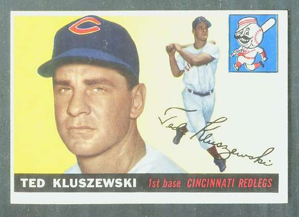 1955 Topps #120 Ted Kluszewski [#a] (Reds) Baseball cards value
