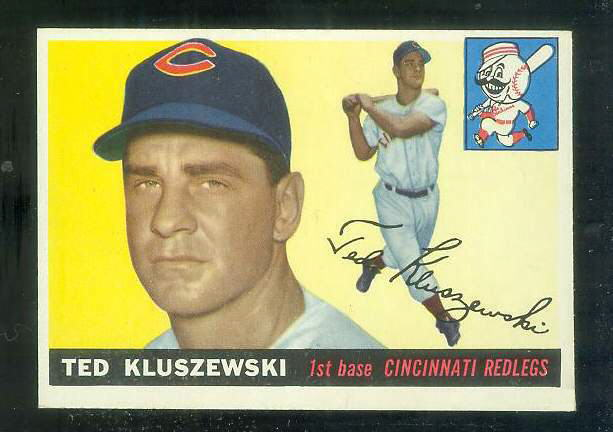 1955 Topps #120 Ted Kluszewski [#c] (Reds) Baseball cards value