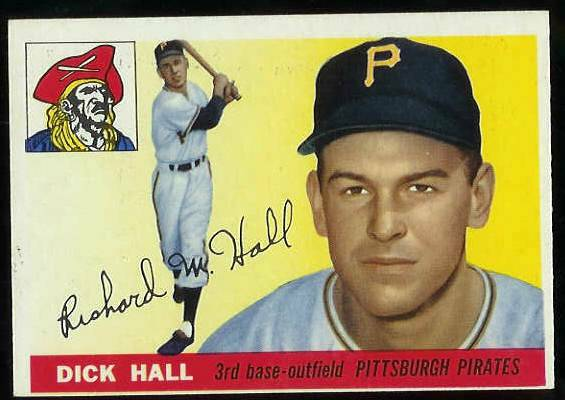 1955 Topps #126 Dick Hall [#b] (Pirates) Baseball cards value