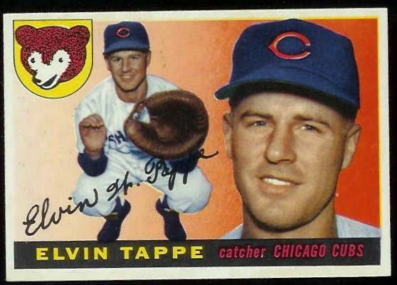 1955 Topps #129 Elvin Tappe (Cubs) Baseball cards value