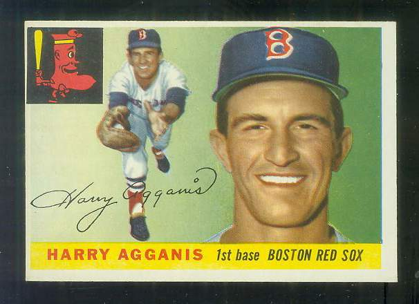 1955 Topps #152 Harry Agganis ROOKIE HIGH NUMBER [#a] (Red Sox) Baseball cards value