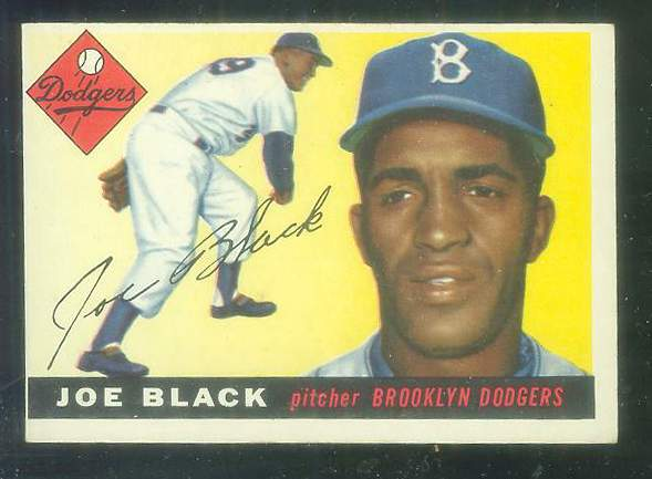 1955 Topps #156 Joe Black HIGH NUMBER [#a] (Brooklyn Dodgers) Baseball cards value