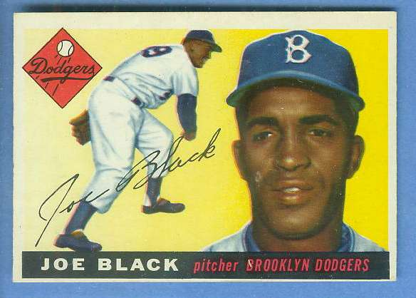1955 Topps #156 Joe Black HIGH NUMBER [#c] (Brooklyn Dodgers) Baseball cards value