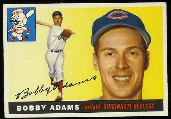 1955 Topps #178 Bobby Adams SCARCE HIGH NUMBER (Reds) Baseball cards value