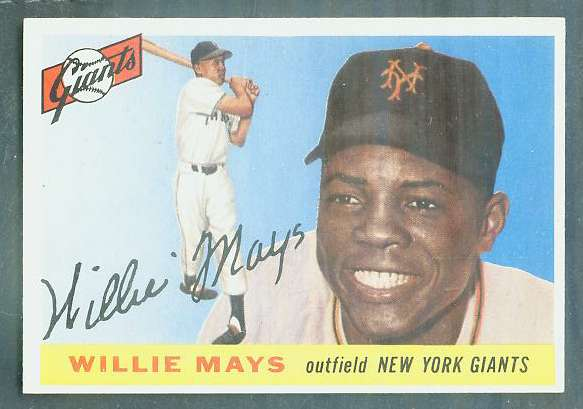 1955 Topps #194 Willie Mays [#a] SCARCE HIGH NUMBER (NY Giants) Baseball cards value