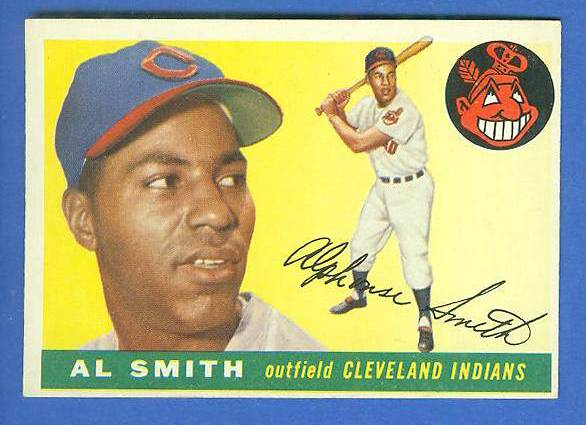 1955 Topps #197 Al Smith SCARCE HIGH NUMBER [#b] (Indians) Baseball cards value