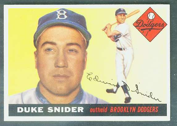 1955 Topps #210 Duke Snider SCARCE HIGH NUMBER [#a] (Brooklyn Dodgers) Baseball cards value