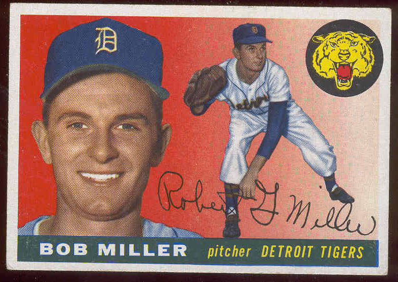 1955 Topps #..9 Bob Miller (Tigers) Baseball cards value
