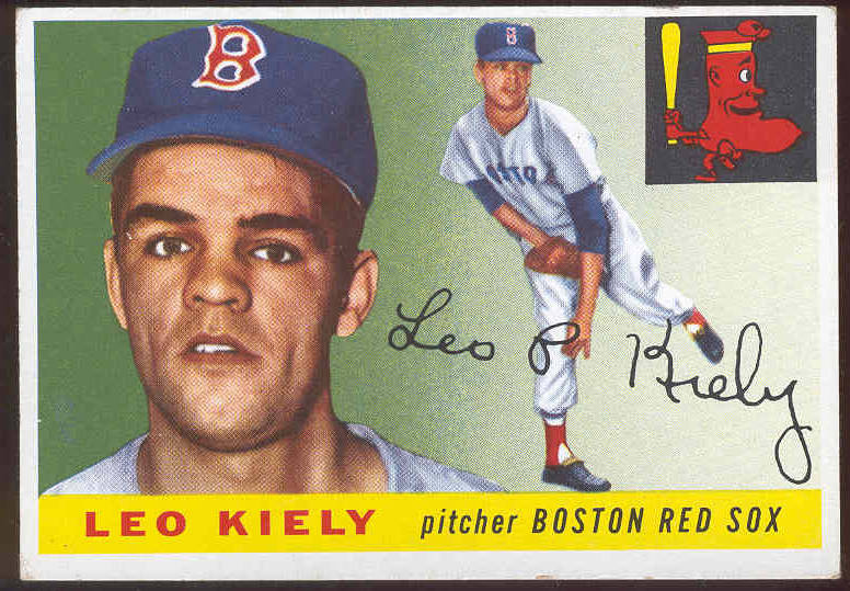1955 Topps #.36 Leo Kiely (Red Sox) Baseball cards value