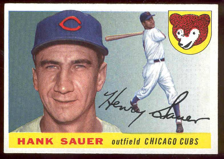 1955 Topps #.45 Hank Sauer (Cubs) Baseball cards value