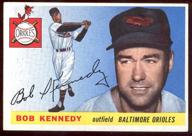 1955 Topps #.48 Bob Kennedy (Orioles) Baseball cards value