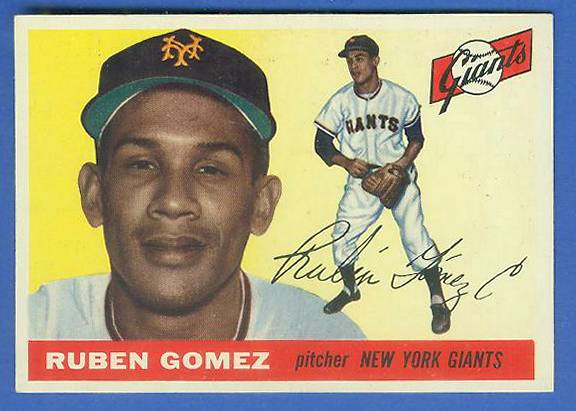 1955 Topps #.71 Ruben Gomez (NY Giants) Baseball cards value