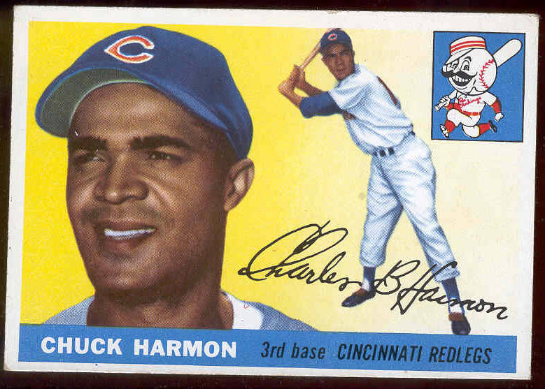 1955 Topps #.82 Chuck Harmon (Reds) Baseball cards value