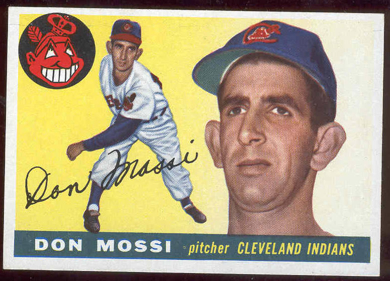 1955 Topps #.85 Don Mossi ROOKIE (Indians) Baseball cards value
