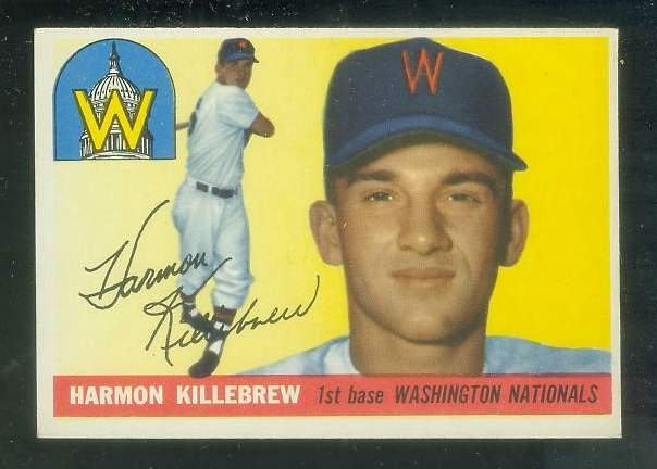 1955 Topps #124 Harmon Killebrew ROOKIE [#a] (Senators) Baseball cards value