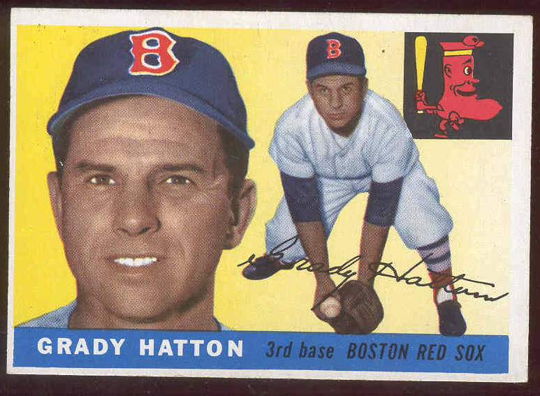 1955 Topps #131 Grady Hatton (Red Sox) Baseball cards value