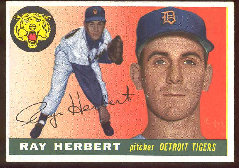 1955 Topps #138 Ray Herbert (Tigers) Baseball cards value