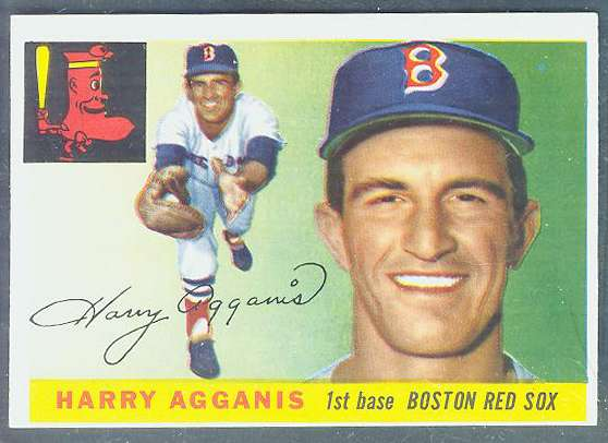 1955 Topps #152 Harry Agganis ROOKIE HIGH NUMBER [#b] (Red Sox) Baseball cards value