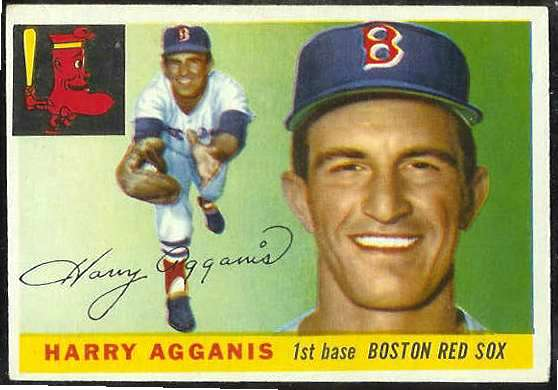 1955 Topps #152 Harry Agganis ROOKIE HIGH NUMBER [#e] (Red Sox) Baseball cards value