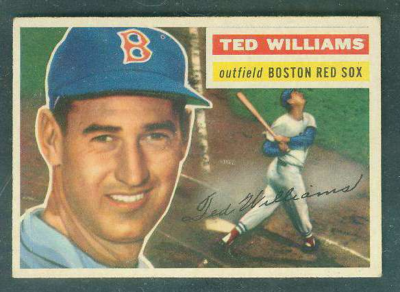 1956 Topps #..5 Ted Williams (Red Sox) Baseball cards value