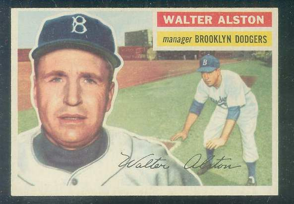 1956 Topps #..8 Walter Alston ROOKIE MGR [#a] (White Back) (Dodgers) Baseball cards value